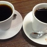 スガヤコーヒー - エチオピア(左)とコロンビア(右)
