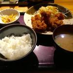49971927 - 鶏の唐揚げ明太風味定食 ¥1000