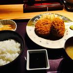 49971929 - メンチカツ定食 ¥1000