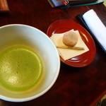 49973709 - ウェルカムお抹茶と受け菓子