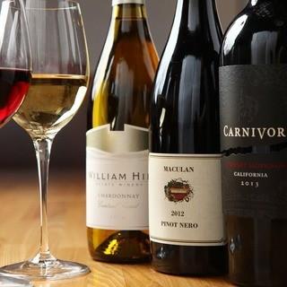 当店自慢!豊富な品揃えのワイン