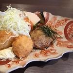 ガーベラ - ハンバーグ&ホタテフライ定食 1480円