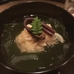 まき村 - 筍三昧のお椀 鳴門のワカメ