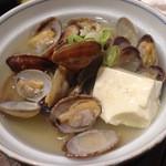 49986314 - 湯豆腐の入った酒蒸しは、初めてでした〜