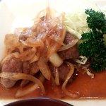 iNAho - 主菜(生姜焼き)