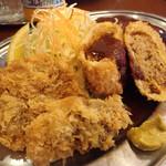 キッチン パンチ - 鳥レバーフライとメンチカツ