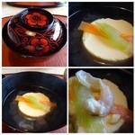 49988909 - 蛤の卵豆腐仕立て・・蛤は少し入っていまして、お出汁は薄味。卵豆腐は滑らかな食感。