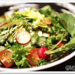 49989199 - オクラと豆腐の和風サラダ