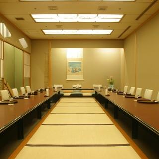 35名様まで1室でお過ごしいただける大広間もございます。