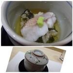 鮨 かず矢 - 料理写真:◆甘鯛の蒸し鮨。甘鯛も上品な脂を感じますし、餡もやさしい味わい。