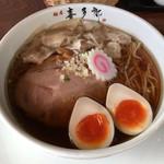 49997977 - 醤油ワンタン麺+煮玉子
