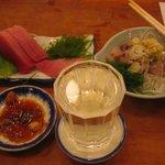 魚三酒場 富岡店 - ほんまぐろと鯵たたき