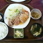 おおしも食堂 - 生姜焼き定食