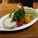 トーティラ フラット - 彩り野菜のバーニャカウダ(小)