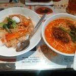 陳麻家 - 【2016.4.20(水)】日替定食(中華丼+半担々麺)550円