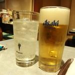 南大門 - レモンサワーとビール