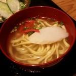 50024061 - 「ミニ沖縄そば」の鰹出汁が良い風味です