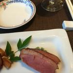 50025169 - 前菜の鴨燻製