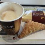 マクドナルド - カプチーノと北海道ミルクパイ