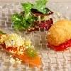 chez みなみ - 料理写真:自家製スモークサーモンサラダ ライスコロッケ