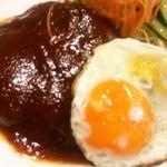 習志の - ハンバーグ定食(ハンバーグアップ)