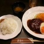 習志の - ハンバーグ定食:1110円