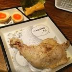 鶏そば十番156 - ヘ(ё)ヘ 鶏もも 丸ごと1本❤ 特級つけ麺の具材❤ ヽ(●´ε`●)ノ