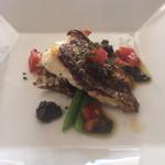 50037694 - 真鯛のポワレ 黒オリーブのソース