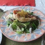 安座真ムーンライト・テラス - 白身魚サラダ仕立て黒酢ソース
