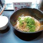50043718 - 「汁なし担担麺」(580円)+「半ライス」(50円)