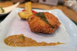 懐石カフェ 蛙吉 - 海鮮揚げ桜餅