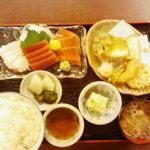 ○気 - お昼の○氣刺身定食(850円)