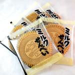 貴田大黒堂菓舗 - ミルクせんべい