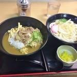 天王寺うどん - カレー牛肉丼定食650円♪