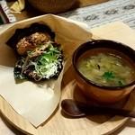 麦cafe - 酵素玄米のライスバーガー ¥1000-
