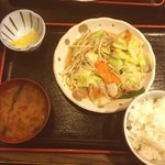 本陣串や - 串やで、塩野菜炒め定食!さっぱりしていて量がちょうどよくて、美味(^^)