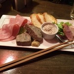 スペインバルヒスパニア - お肉の4種盛合せ880円(税別)