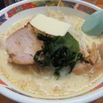 味の札幌 - 味噌カレー牛乳ラーメン(バター入り)