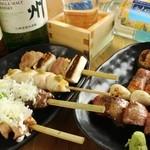 東京渋谷 炭火串焼 鳥横 - 串盛り8本