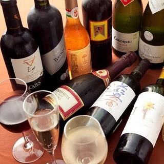 ワインは常時40種ほど寝かせています