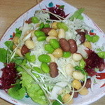 サガミ - 豆×2サラダ