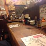 ラーメンTAIZO - 店内のカウンター。
