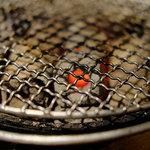 焼肉 ぽんが - 七輪の炭