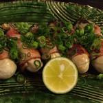 俺の和食英二 - 牡蠣ベーコン焼 \780