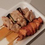 よねきゅう精肉店 - 焼き鳥(ねぎま、スタミナ焼、からみ焼)