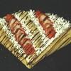 バナナと苺のチョコカスタード生クリーム