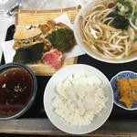 ゆ釜 - かき揚げ天ぷら定食  税込750円