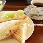 珈琲 蔵人珈蔵 - 料理写真:ホットサンドとブレンドコーヒーのモーニングセット