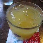 手ぬぐいカフェ 一花屋 - 冷しレモン