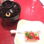 長崎卓袱浜勝 - 苺とキウイのゼリー